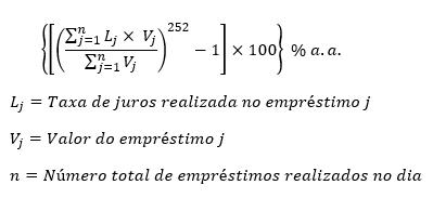fórmula taxa selic