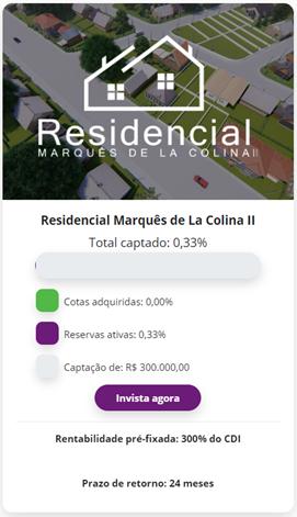 PLATAFORMA DE CROWDFUNDING PARA INVESTIDORES: Residencial Marquês de La Colina II